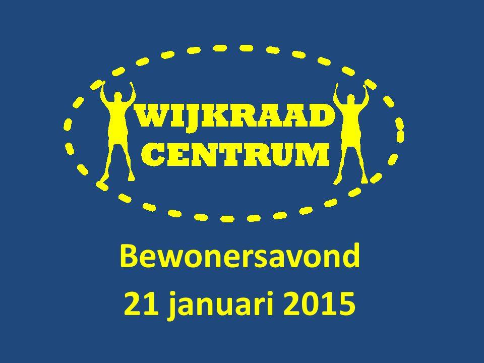 Bewonersavond 21 januari 2015