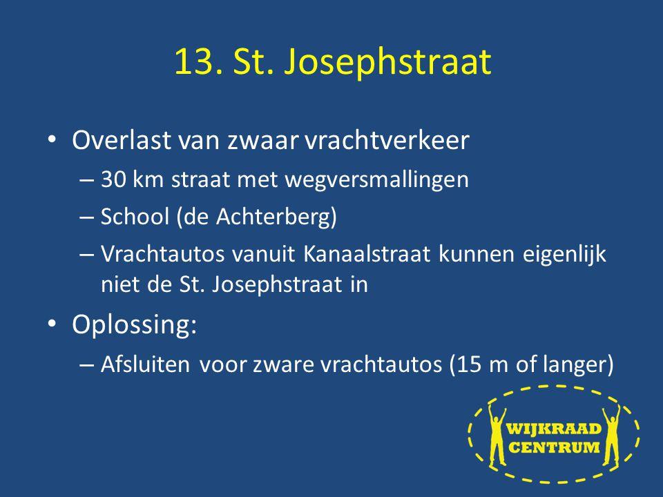 Overlast van zwaar vrachtverkeer – 30 km straat met wegversmallingen – School (de Achterberg) – Vrachtautos vanuit Kanaalstraat kunnen eigenlijk niet de St.