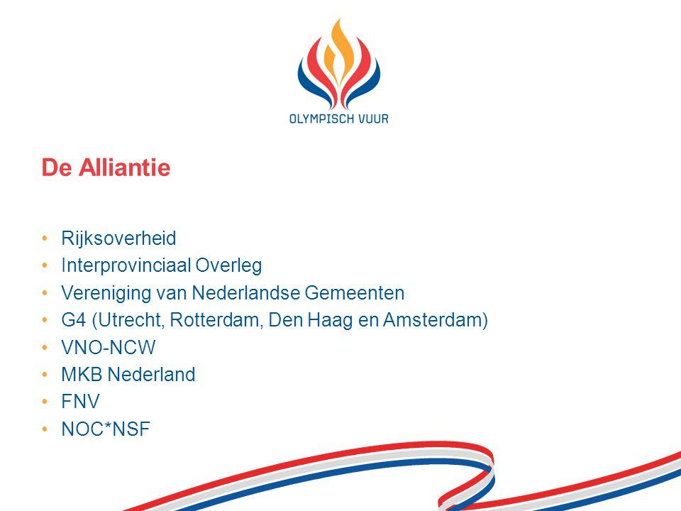 Rijksoverheid Interprovinciaal Overleg Vereniging van Nederlandse Gemeenten G4 (Utrecht, Rotterdam, Den Haag en Amsterdam) VNO-NCW MKB Nederland FNV NOC*NSF