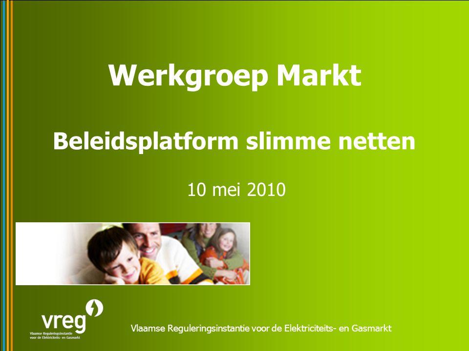 Vlaamse Reguleringsinstantie voor de Elektriciteits- en Gasmarkt Werkgroep Markt Beleidsplatform slimme netten 10 mei 2010