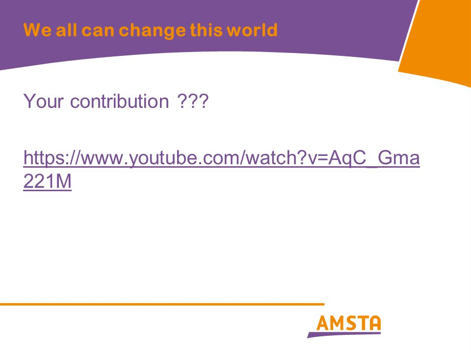 We all can change this world Your contribution ??? https://www.youtube.com/watch?v=AqC_Gma 221M