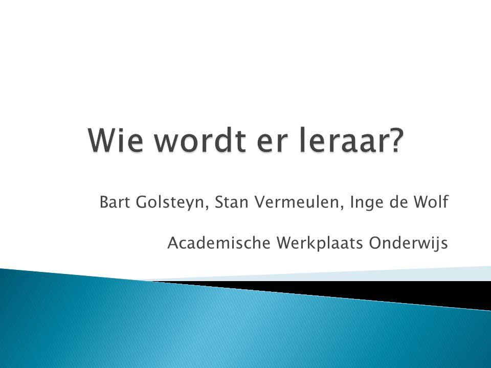 Bart Golsteyn, Stan Vermeulen, Inge de Wolf Academische Werkplaats Onderwijs