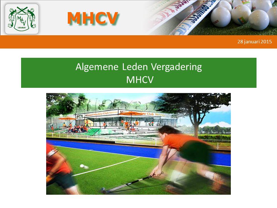 Algemene Leden Vergadering MHCV Ruud Janssen Eric Vennekens 28 januari 2015