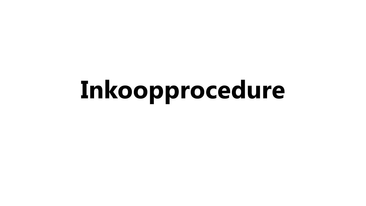 Inkoopprocedure