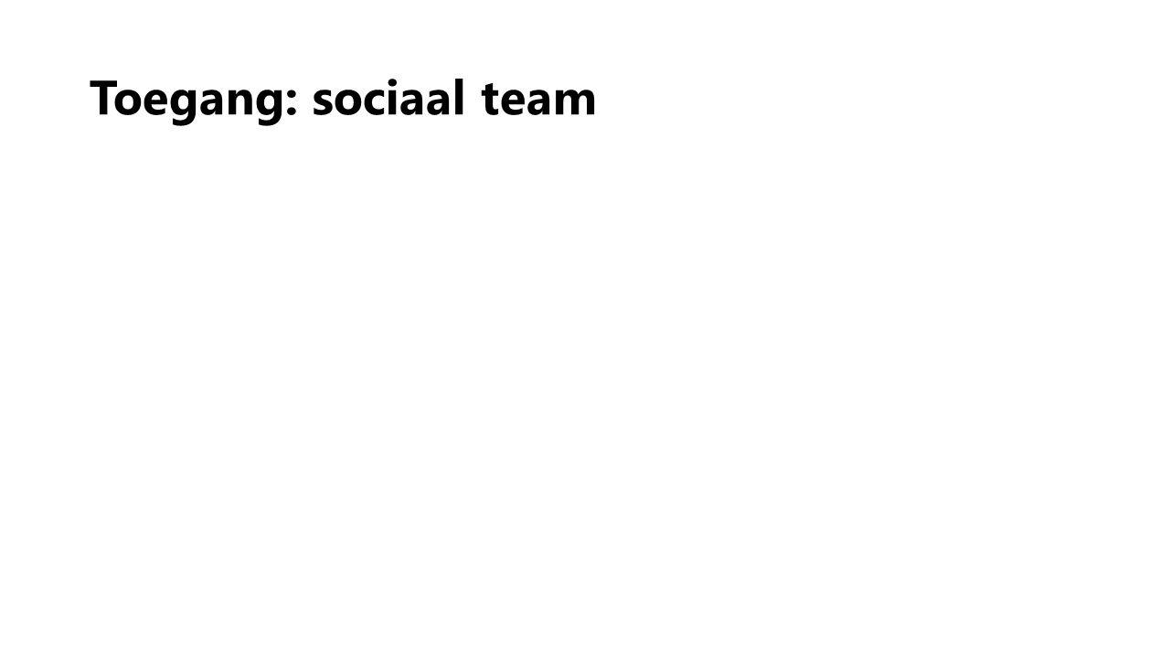 Toegang: sociaal team