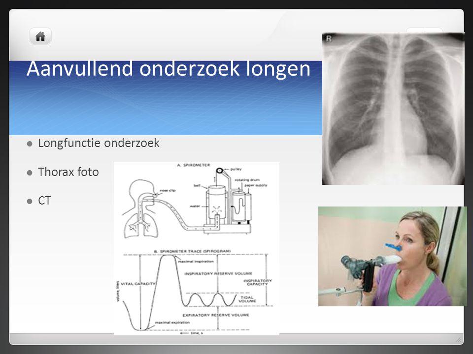 Aanvullend onderzoek longen Longfunctie onderzoek Thorax foto CT