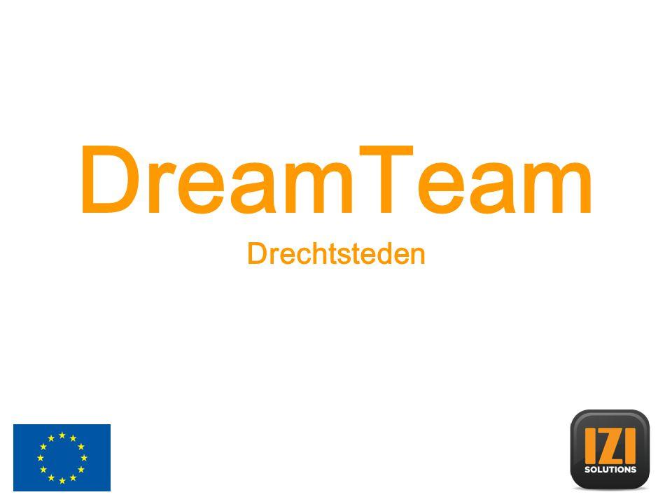 DreamTeam Het DreamTeam concept wordt in diverse wijken uitgevoerd om een brug te slaan tussen excellente jongeren uit probleemwijken, instanties en de behoeften van buurtbewoners.