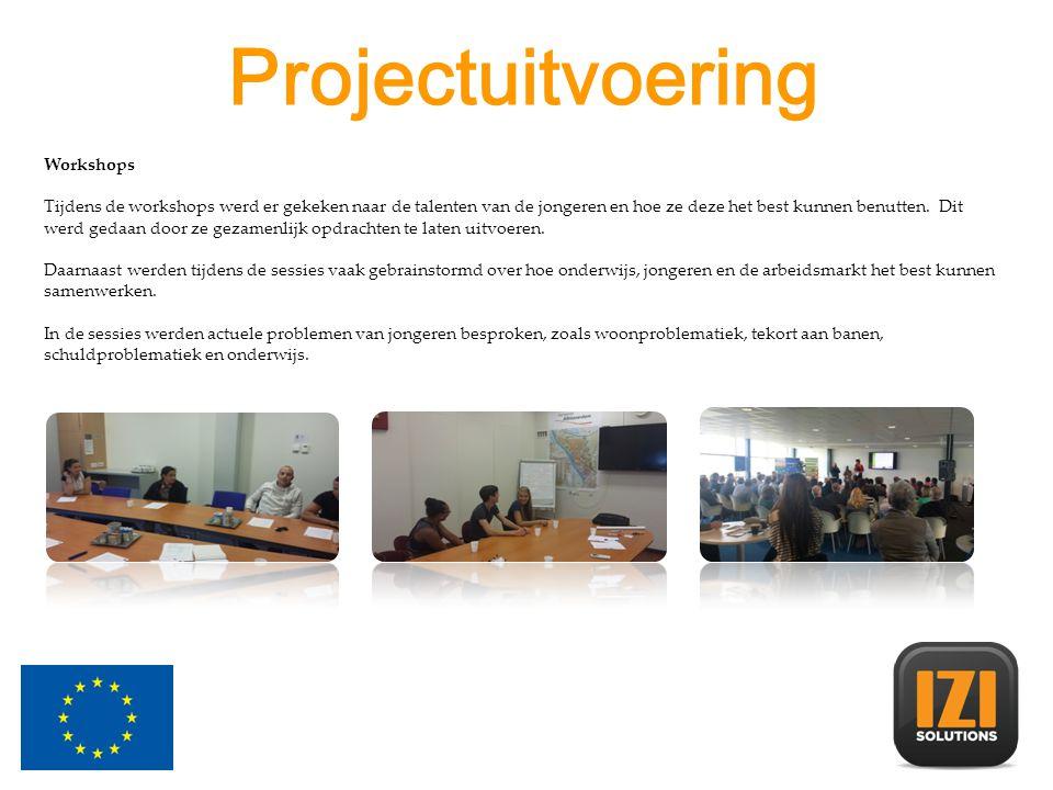 Workshops Tijdens de workshops werd er gekeken naar de talenten van de jongeren en hoe ze deze het best kunnen benutten.