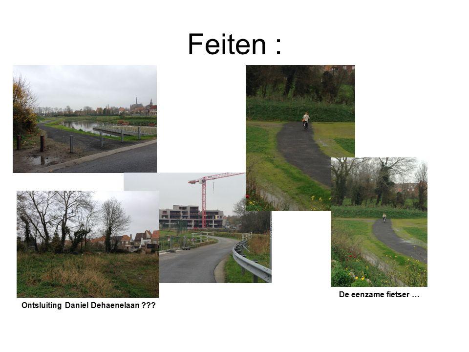 Feiten : Ontsluiting Daniel Dehaenelaan De eenzame fietser …