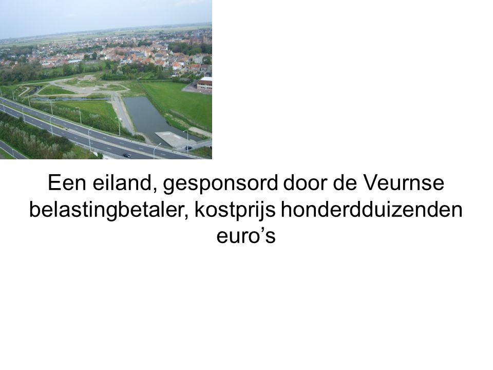 Een eiland, gesponsord door de Veurnse belastingbetaler, kostprijs honderdduizenden euro's