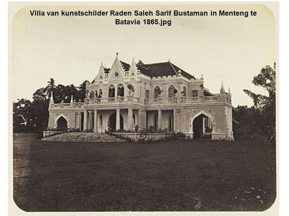 Villa van kunstschilder Raden Saleh Sarif Bustaman in Menteng te Batavia 1865.jpg
