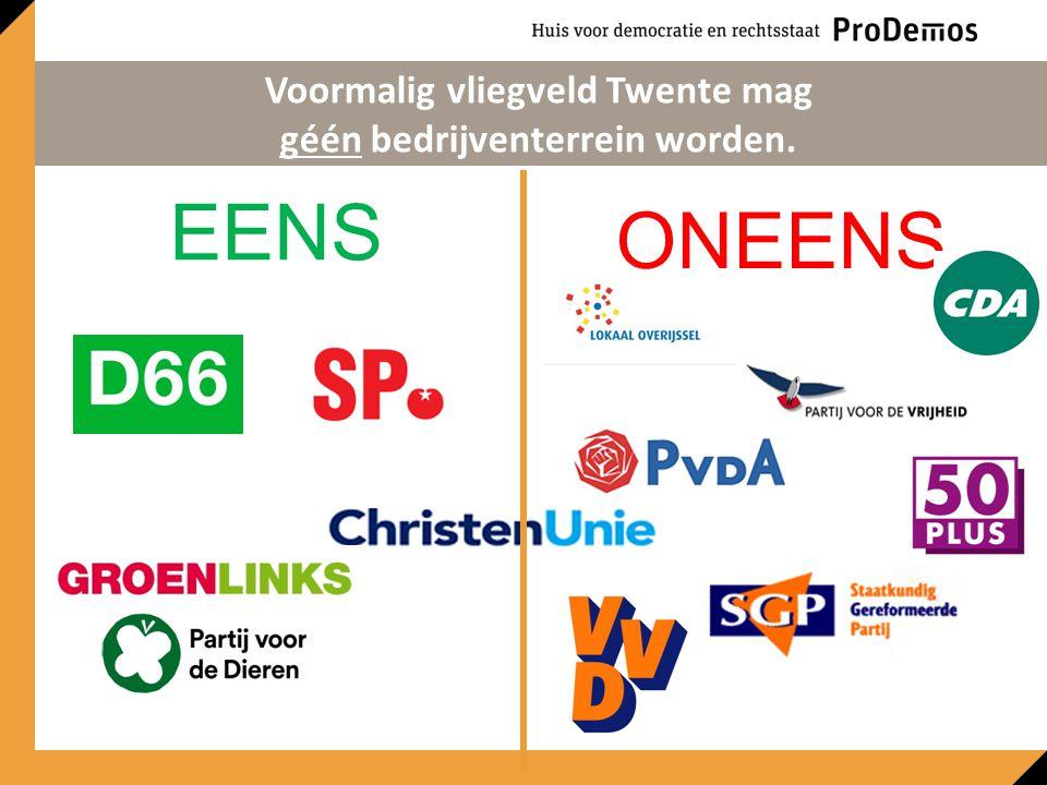 EENS ONEENS Voormalig vliegveld Twente mag géén bedrijventerrein worden.