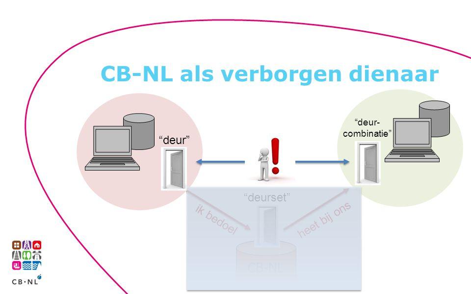 """CB-NL als verborgen dienaar CB-NL """"deur"""" """"deurset"""" ik bedoel """"deur- combinatie"""" heet bij ons"""