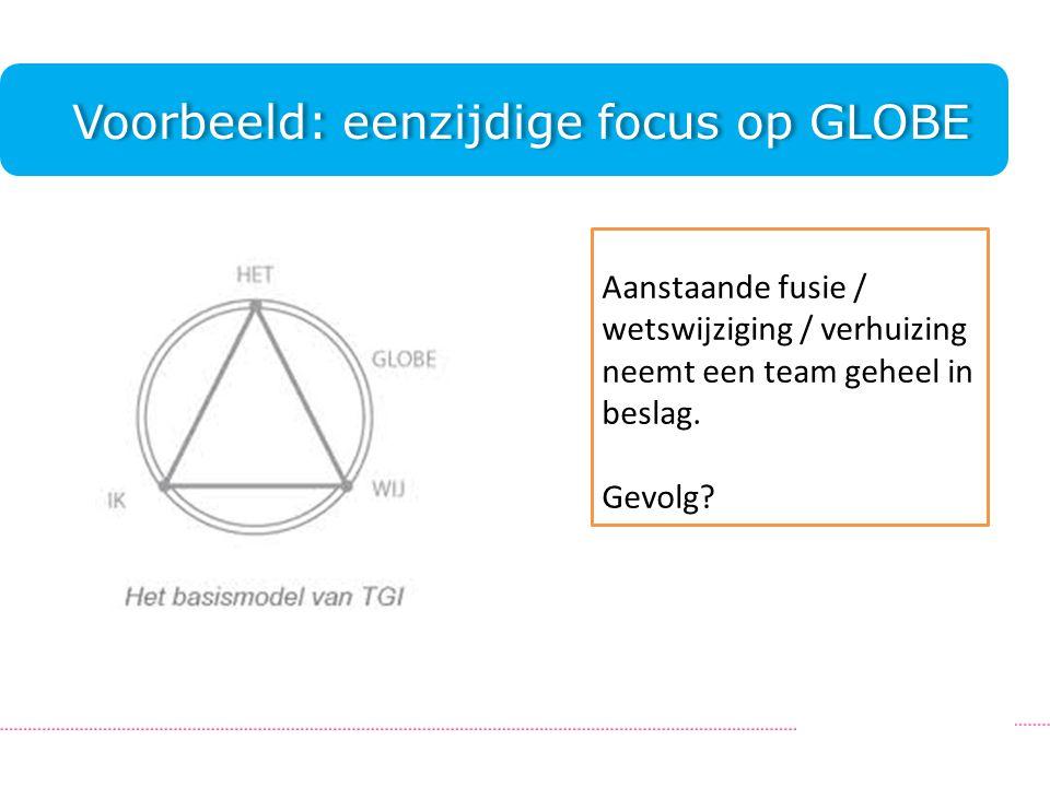 Voorbeeld: eenzijdige focus op GLOBE.