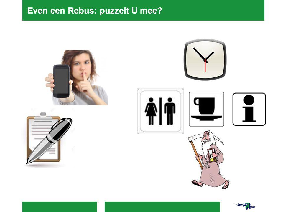 Even een Rebus: puzzelt U mee?