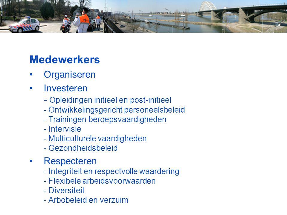 Medewerkers Organiseren Investeren - Opleidingen initieel en post-initieel - Ontwikkelingsgericht personeelsbeleid - Trainingen beroepsvaardigheden -
