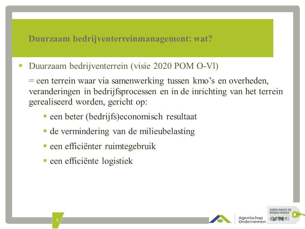 5 Duurzaam bedrijventerreinmanagement: wat.