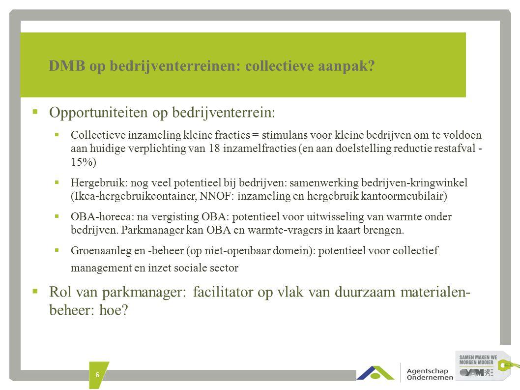 6 DMB op bedrijventerreinen: collectieve aanpak.