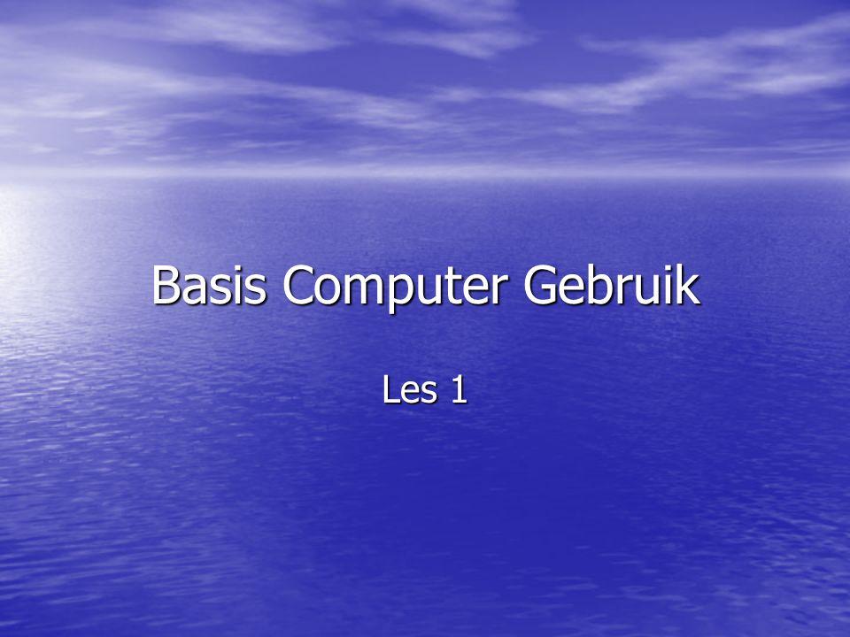 Basis Computer Gebruik Les 1