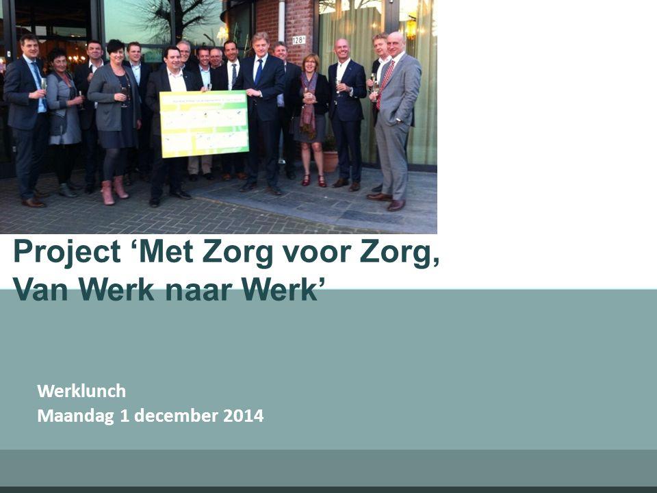 Project 'Met Zorg voor Zorg, Van Werk naar Werk' Werklunch Maandag 1 december 2014