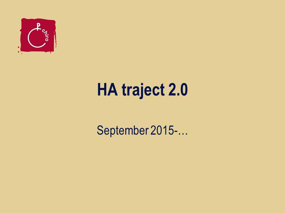 HA traject 2.0 September 2015-…