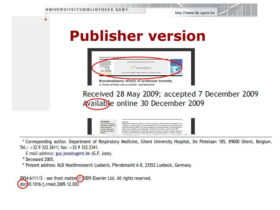 Contact  biblio@UGent.be biblio@UGent.be  Peter Reyniers (09/264 7941)  Griet Devolder (09/264 9895)  Open Access vragen:  openaccess@UGent.be openaccess@UGent.be  http://openaccess.be http://openaccess.be