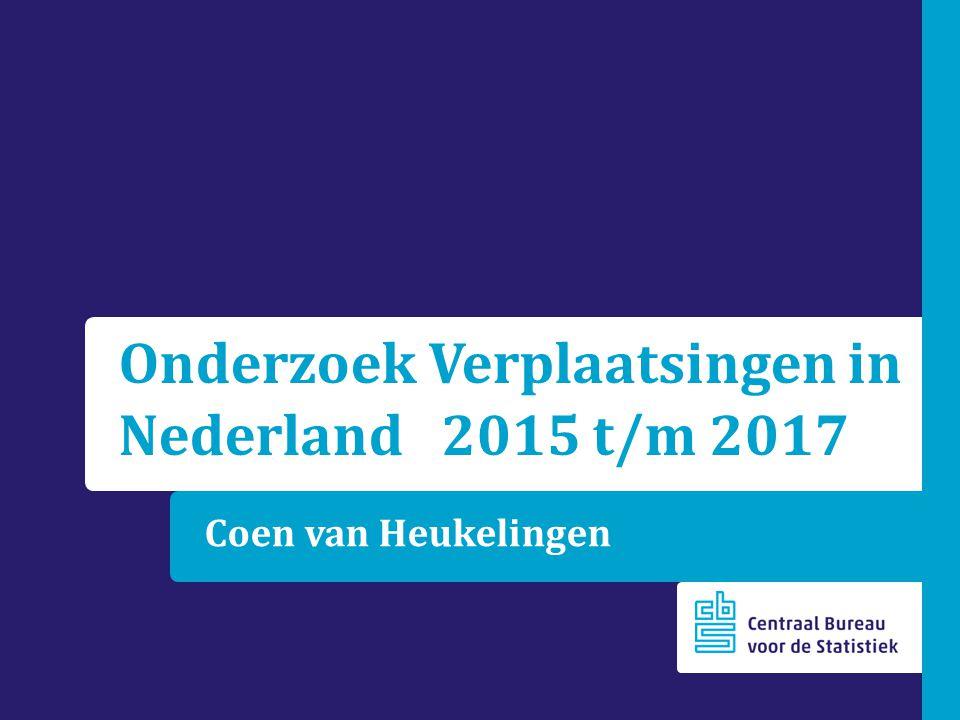 Coen van Heukelingen Onderzoek Verplaatsingen in Nederland 2015 t/m 2017