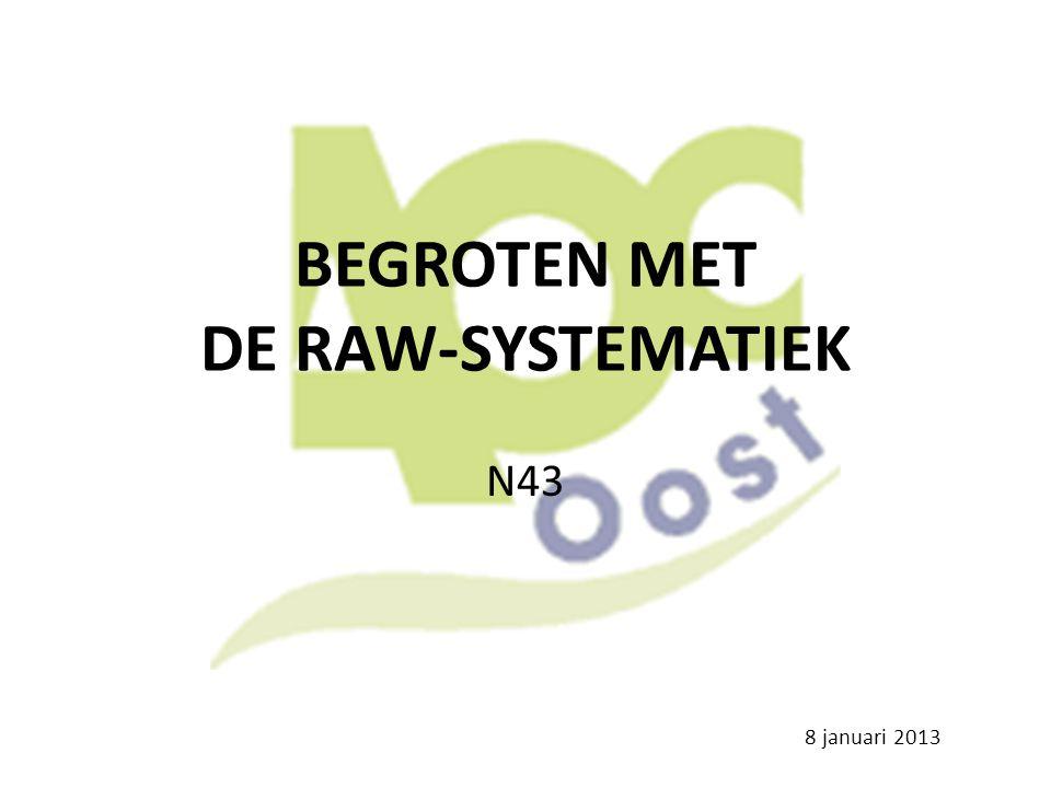 BEGROTEN MET DE RAW-SYSTEMATIEK N43 8 januari 2013