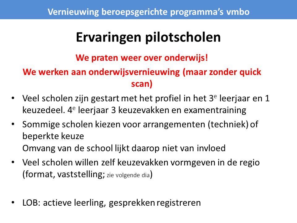 Ervaringen pilotscholen We praten weer over onderwijs.