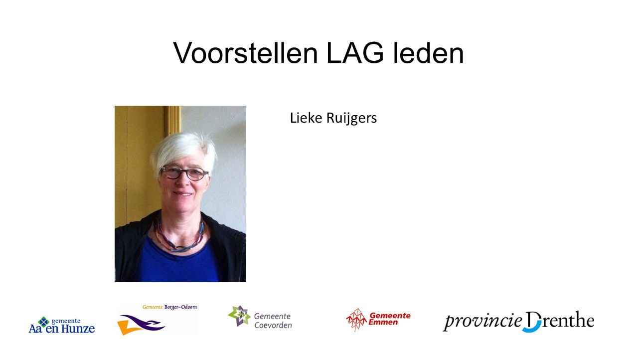 Voorstellen LAG leden Lieke Ruijgers