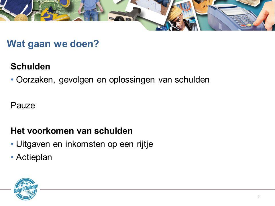 1.Ga op internet naar deze pagina: www.edgie.nl/budgetchallenge Open de tool Kasboek 2.