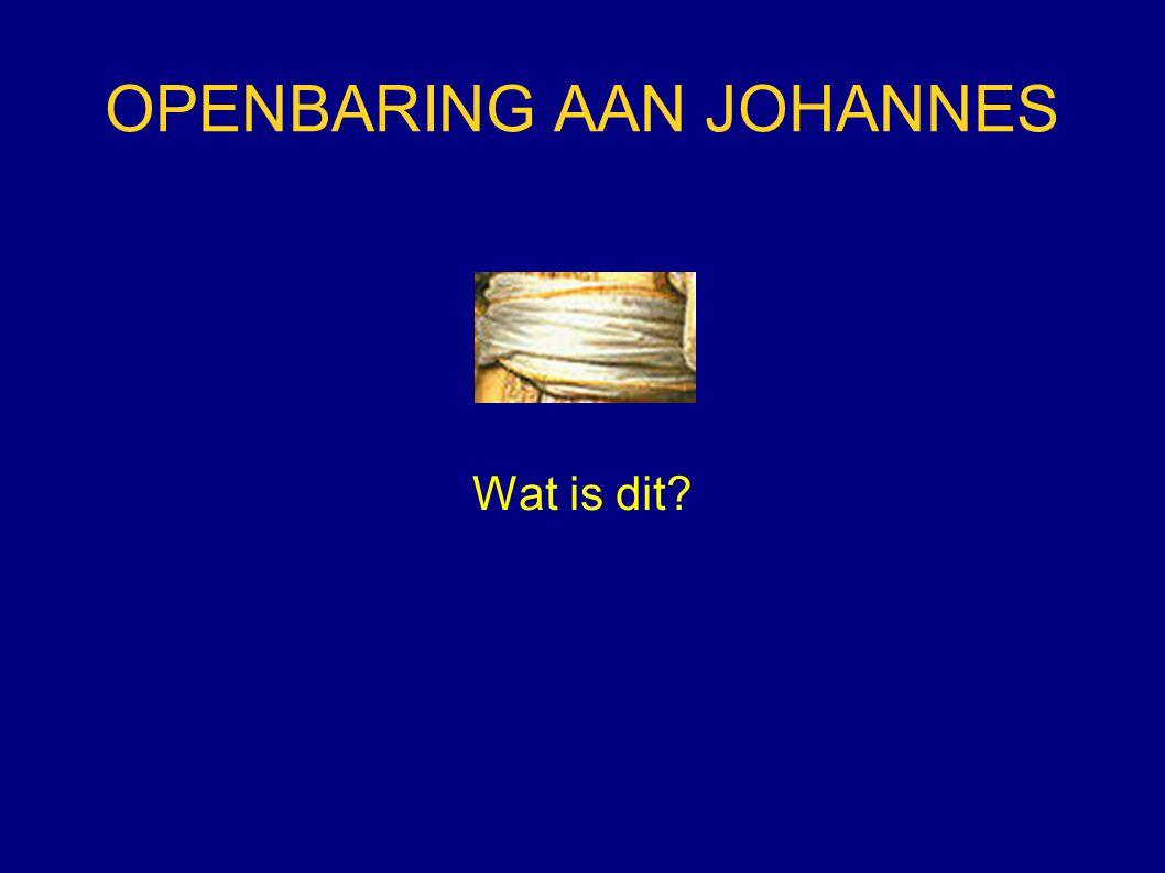 OPENBARING AAN JOHANNES Wat is dit?