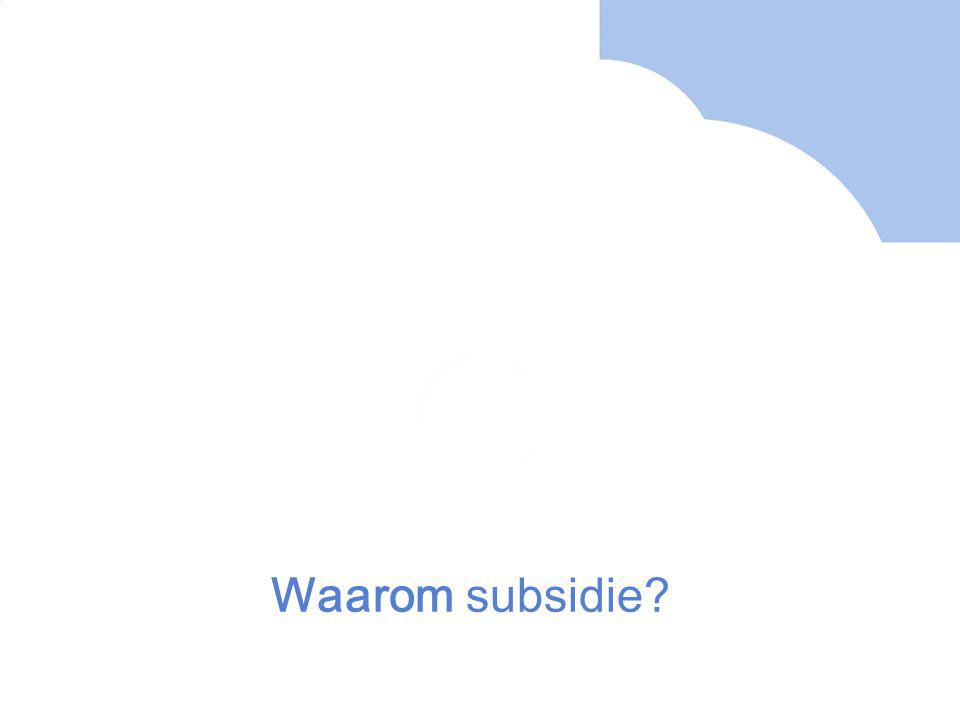 Waarom subsidie?