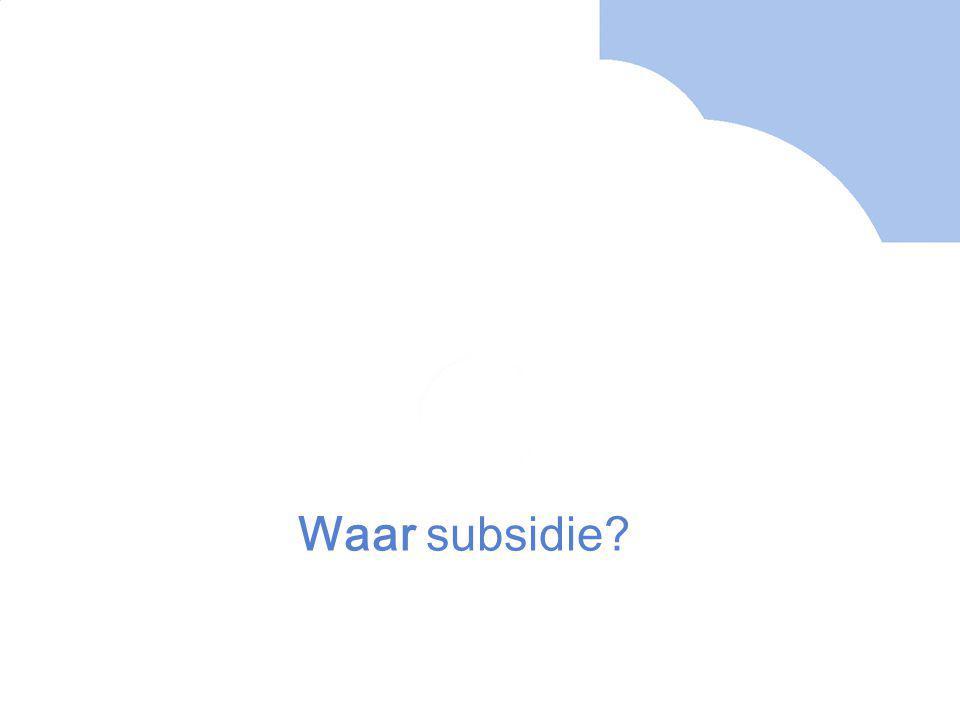 Waar subsidie?