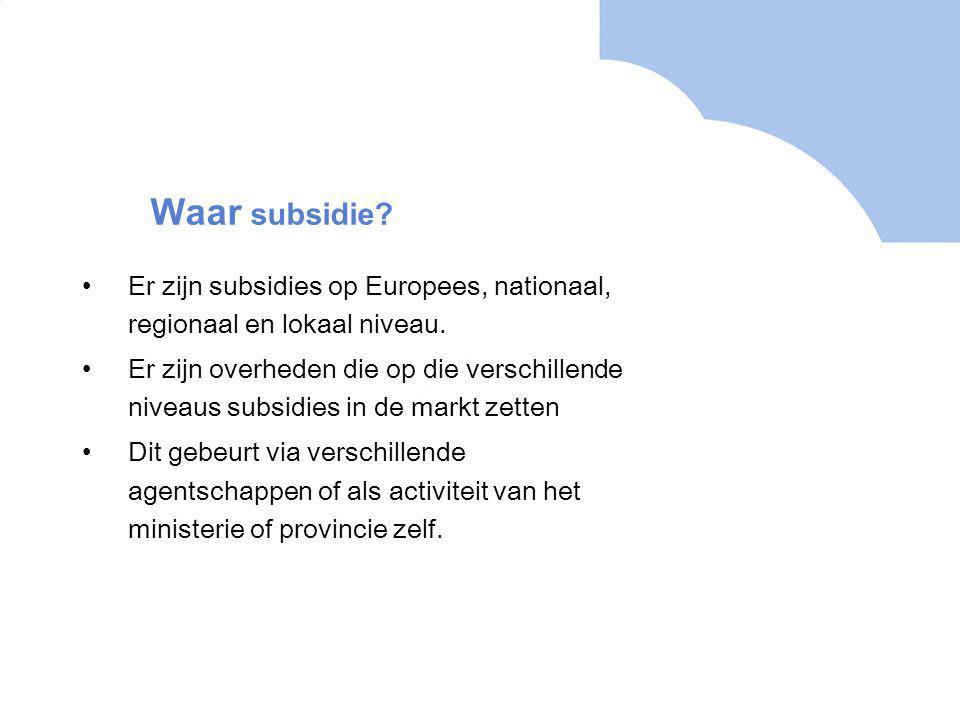 Waar subsidie.