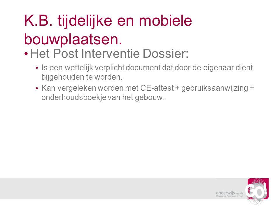 Het Post Interventie Dossier: Is een wettelijk verplicht document dat door de eigenaar dient bijgehouden te worden. Kan vergeleken worden met CE-attes