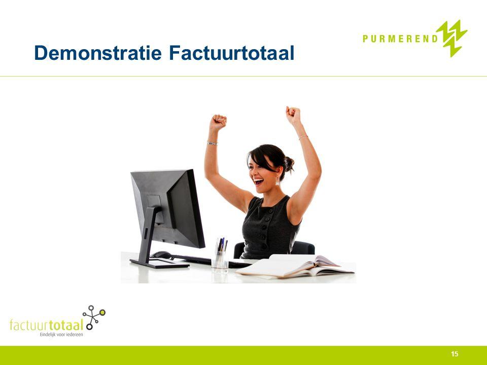 Demonstratie Factuurtotaal 15