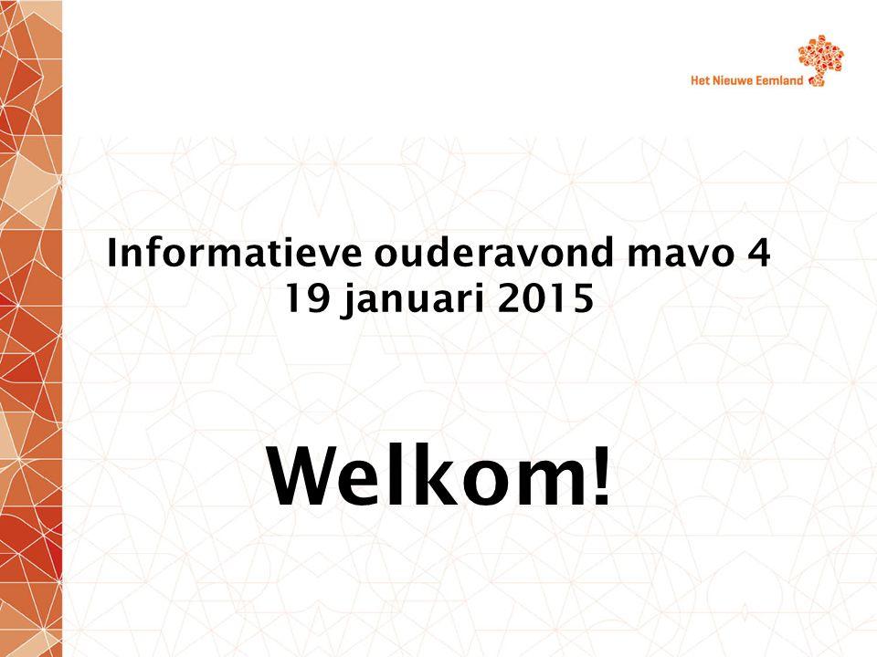 Programma Mavo 4 - richting het centraal eindexamen Presentatie SWS (do.