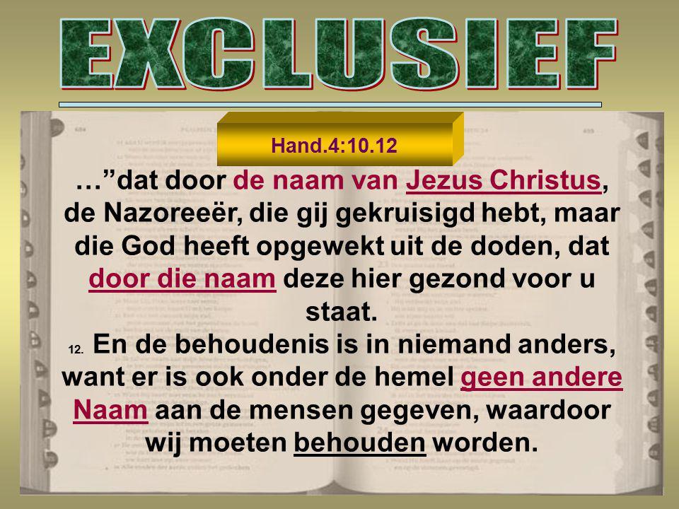 GOD KENNEN - ZIJN NAAM Exodus 3:13 Daarop zei Mozes tot God: Maar wanneer ik tot de Israëlieten kom en hun zeg: De God van uw vaderen heeft mij tot u gezonden, en zij mij vragen: HOE IS ZIJN NAAM, wat moet ik hun dan antwoorden ? 6.823 x 2.570 x300 x ( DE HERE ) ( GOD ) ( De Here )