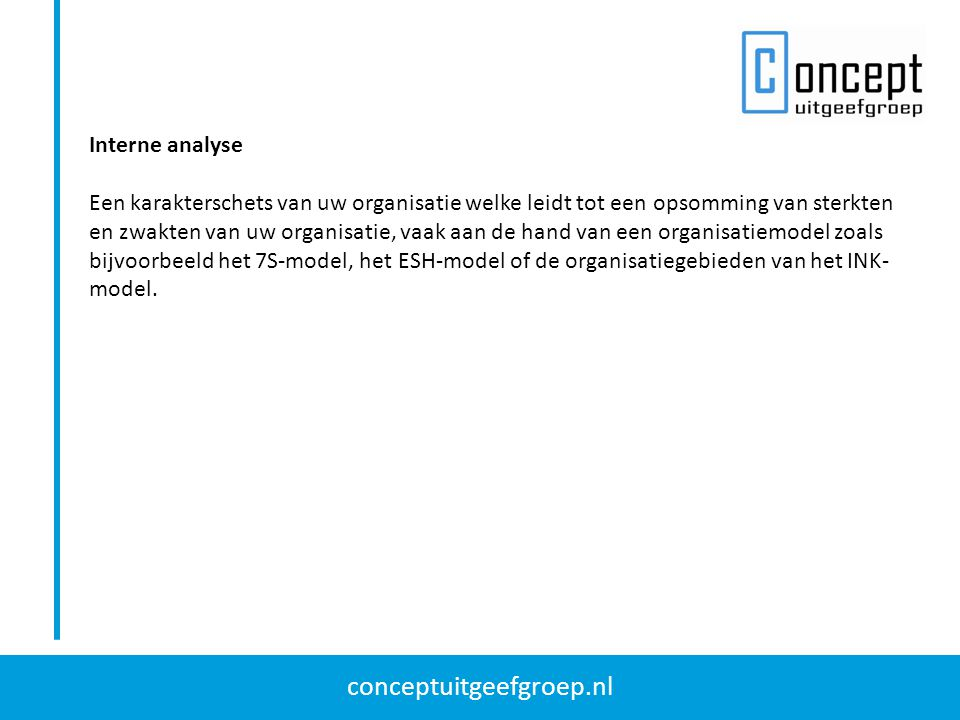 conceptuitgeefgroep.nl SWOT analyse