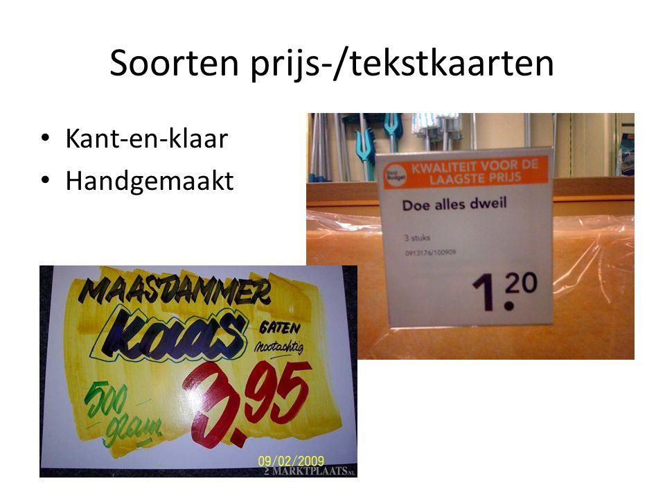 Soorten prijs-/tekstkaarten Kant-en-klaar Handgemaakt