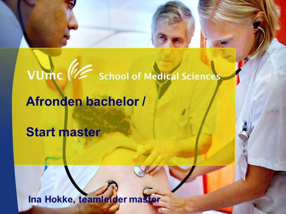 Afronden bachelor / Start master Ina Hokke, teamleider master