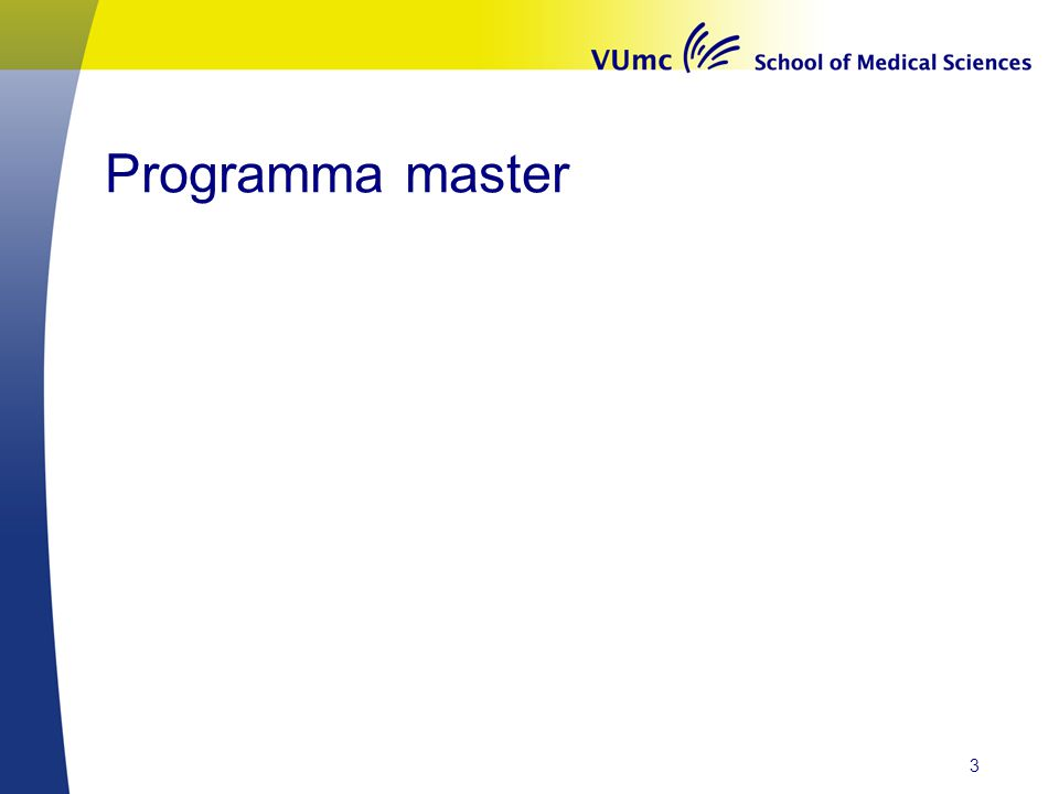 Programma master 3