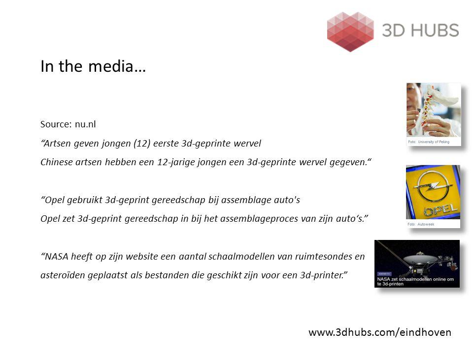 """In the media… Source: nu.nl """"Artsen geven jongen (12) eerste 3d-geprinte wervel Chinese artsen hebben een 12-jarige jongen een 3d-geprinte wervel gege"""