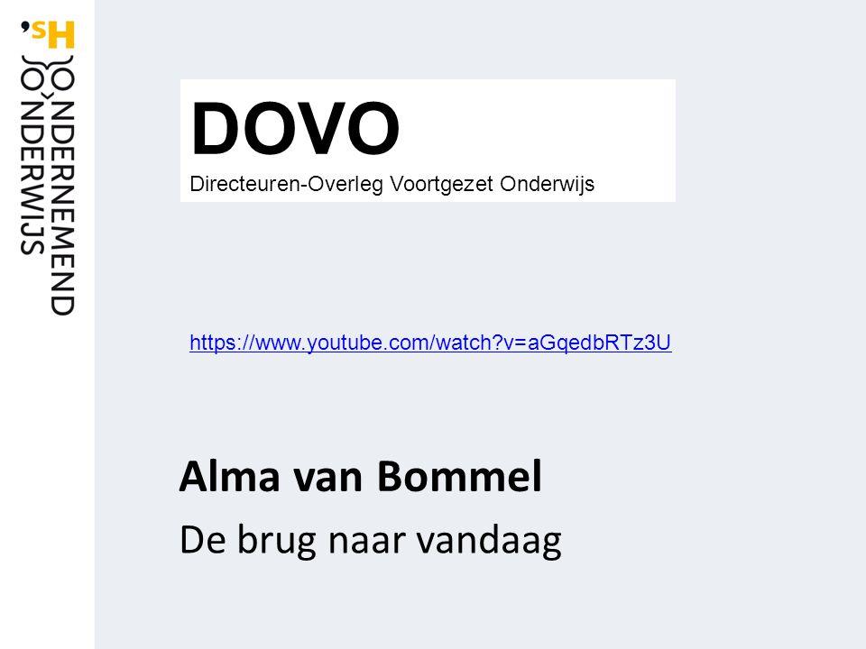 Alma van Bommel De brug naar vandaag DOVO Directeuren-Overleg Voortgezet Onderwijs https://www.youtube.com/watch?v=aGqedbRTz3U
