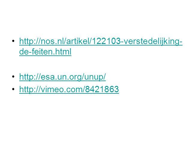 http://nos.nl/artikel/122103-verstedelijking- de-feiten.htmlhttp://nos.nl/artikel/122103-verstedelijking- de-feiten.html http://esa.un.org/unup/ http: