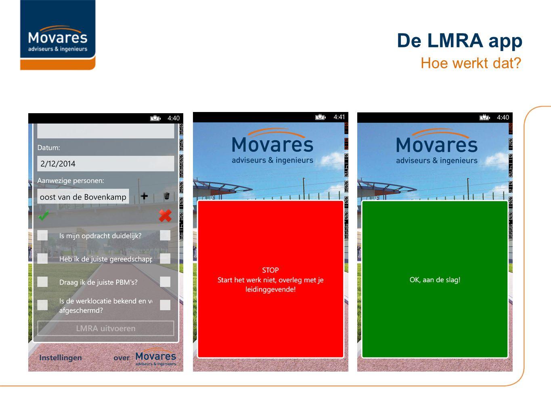 De LMRA app Hoe werkt dat?