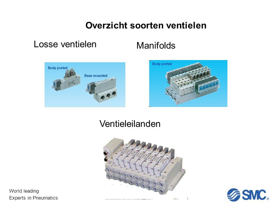 World leading Experts in Pneumatics Overzicht soorten ventielen Losse ventielen Manifolds Ventieleilanden
