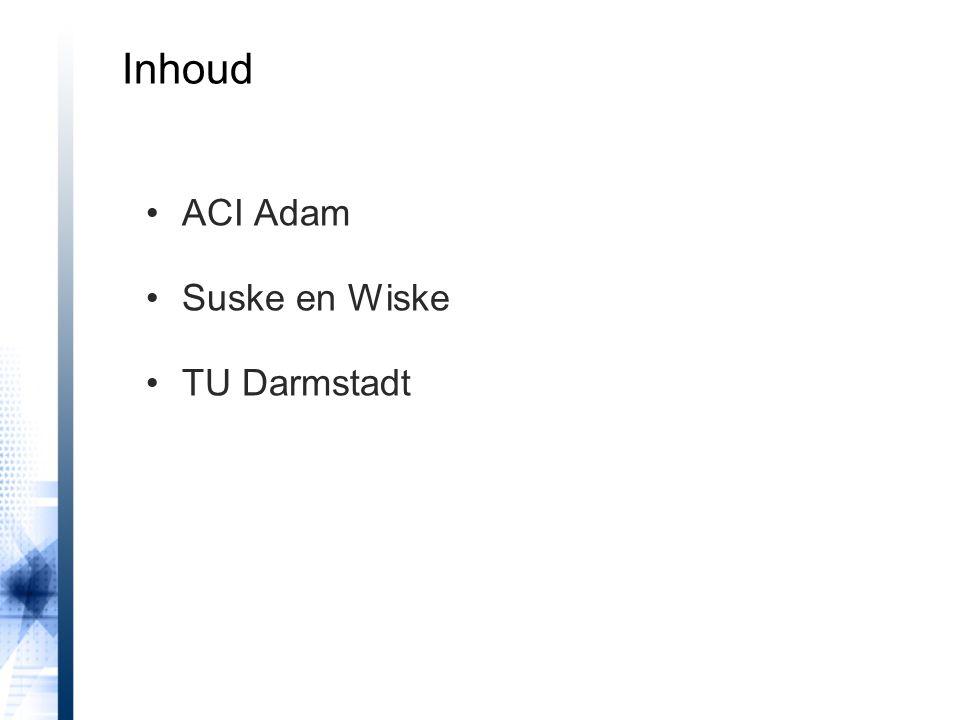 Inhoud ACI Adam Suske en Wiske TU Darmstadt