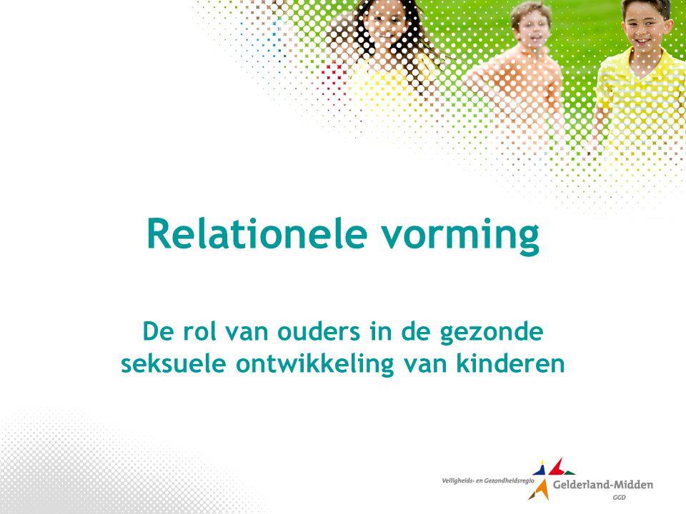 Programma Relationele- en seksuele vorming De seksuele ontwikkeling van kinderen Seksuele opvoeding: wat doet de school.